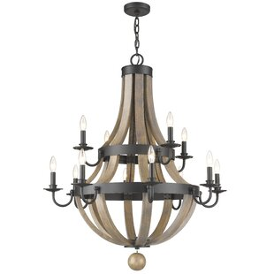 Gracie Oaks Pittman 12-Light Candle Style Chandelier