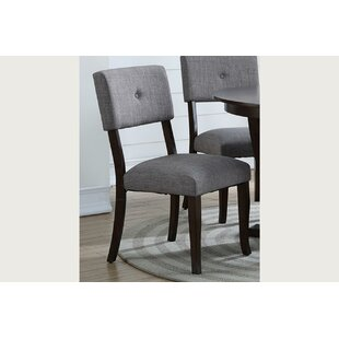 Levon Wood Side Upholstered Dining Chair (Set of 2)