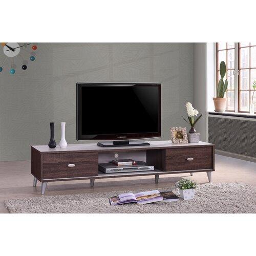 TV-Lowboard | Wohnzimmer > TV-HiFi-Möbel > TV-Lowboards | Braun/weiß | 17 Stories