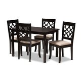 Sugarland 5 - Piece Solid Oak Dining Set by Red Barrel Studio®