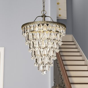 Totnes 4-Light Crystal Chandelier by House of Hampton