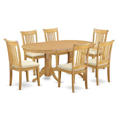 Daniella 7 Piece Extendable Solid Wood Dining Set Alcott Hill