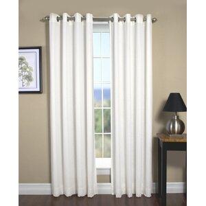 New Castle Solid Room Darkening Grommet Single Curtain Panel