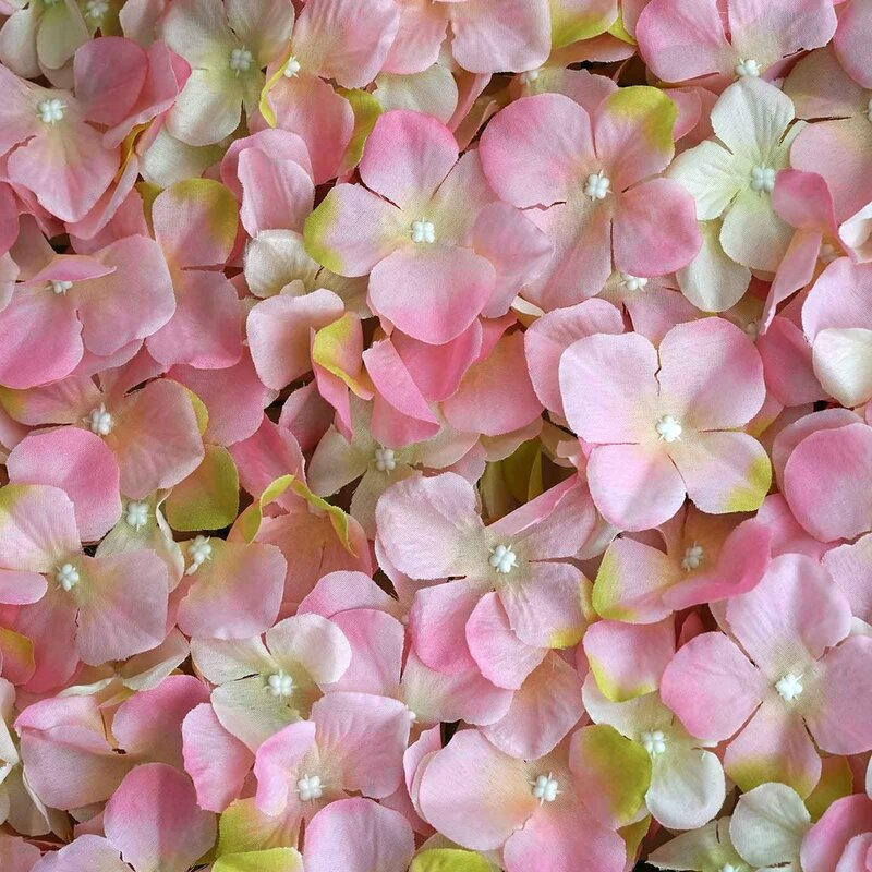 Enovaus Silk Hydrangea Flowers Wedding Party Wall Backdrop Panel