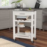 Haviland Kitchen Cart with Stainless Steel Top by Highland Dunes