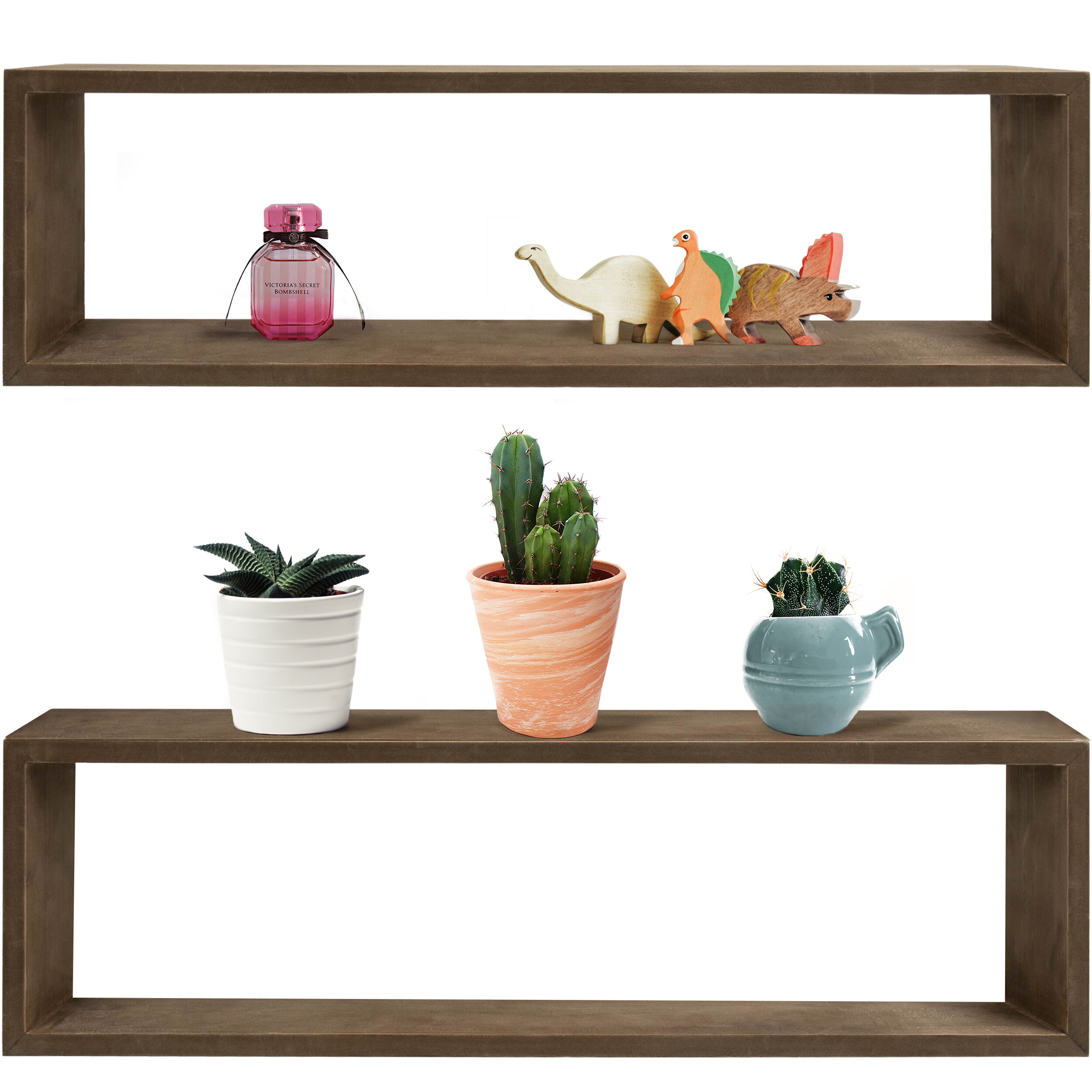 Set Of 8 Floating Shelves Wall Mounted,Rustic Wood Wall Shelves, Great For  Home, Office,Bedroom, Bathroom, Living Room, Kitchen Decorative,84 Inch