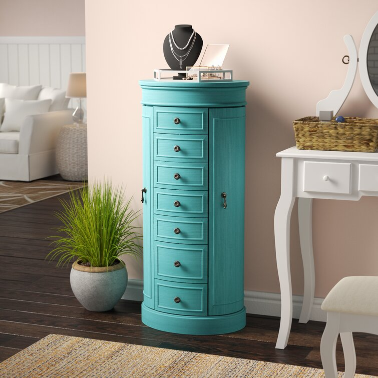 Pettus Jewelry Armoire with Mirror