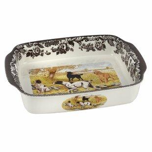Woodland Rectangular Handled Lasagne Dog Baking Dish