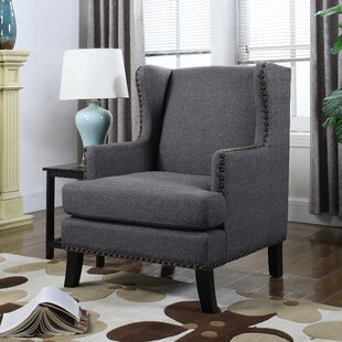 Best Reviews Kaleigh Wingback Chair By Alcott Hill