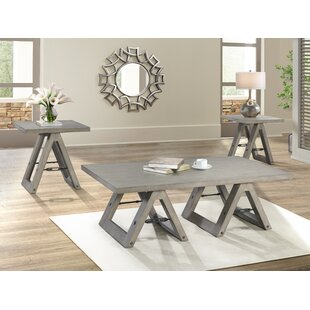 Eliza Sawhorse 3 Piece Coffee Table Set