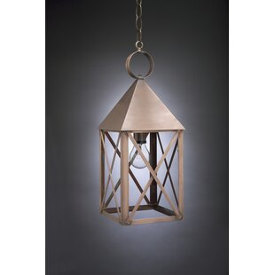 Gipson 1-Light Outdoor Hanging Lantern by Alcott Hill