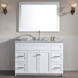 """Bathroom Vanity Sets ariel bath hamlet 49"""" single bathroom vanity set & reviews   wayfair"""