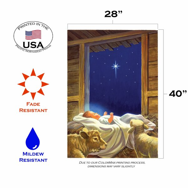 Toland Home Garden Baby Jesus 28 X 40 Inch House Flag Wayfair