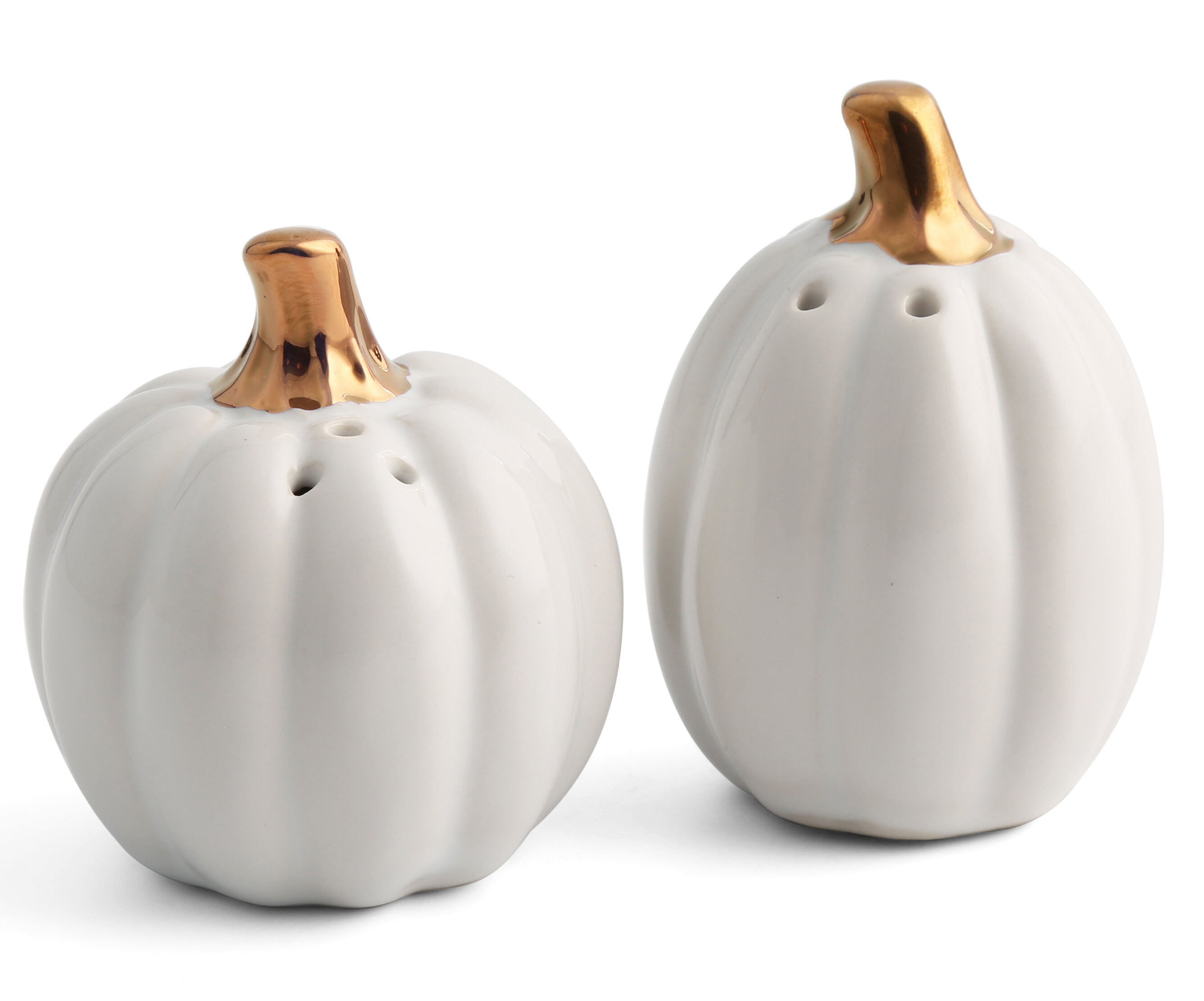 Thirstystone Ceramic Pumpkin Salt And Pepper Shakers Set Reviews Wayfair