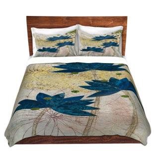 DiaNoche Designs Blue Lotus Duvet Cover Set