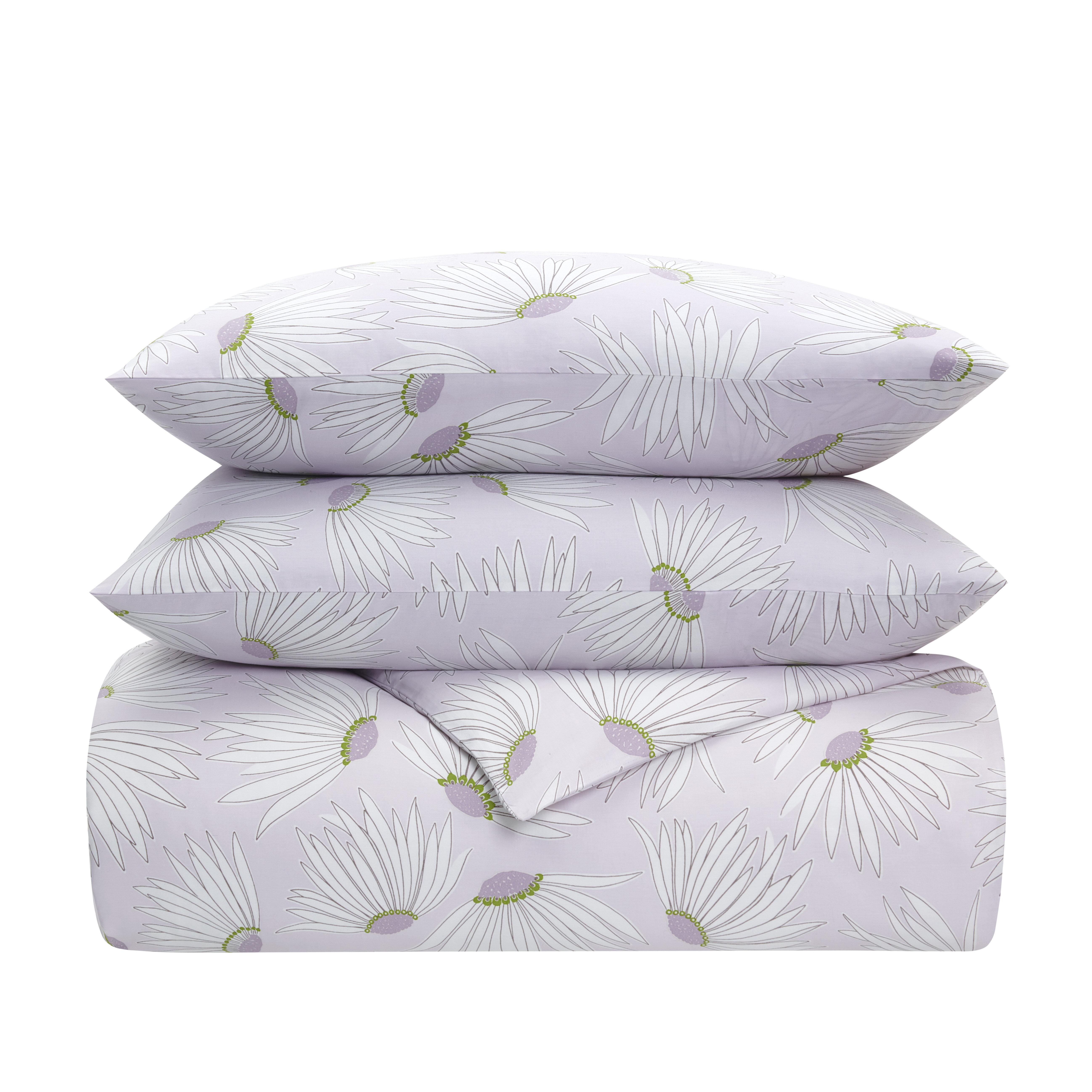 Kate Spade New York Falling Flowers Light Lavender Floral 100 Cotton 2 Piece Comforter Set Wayfair