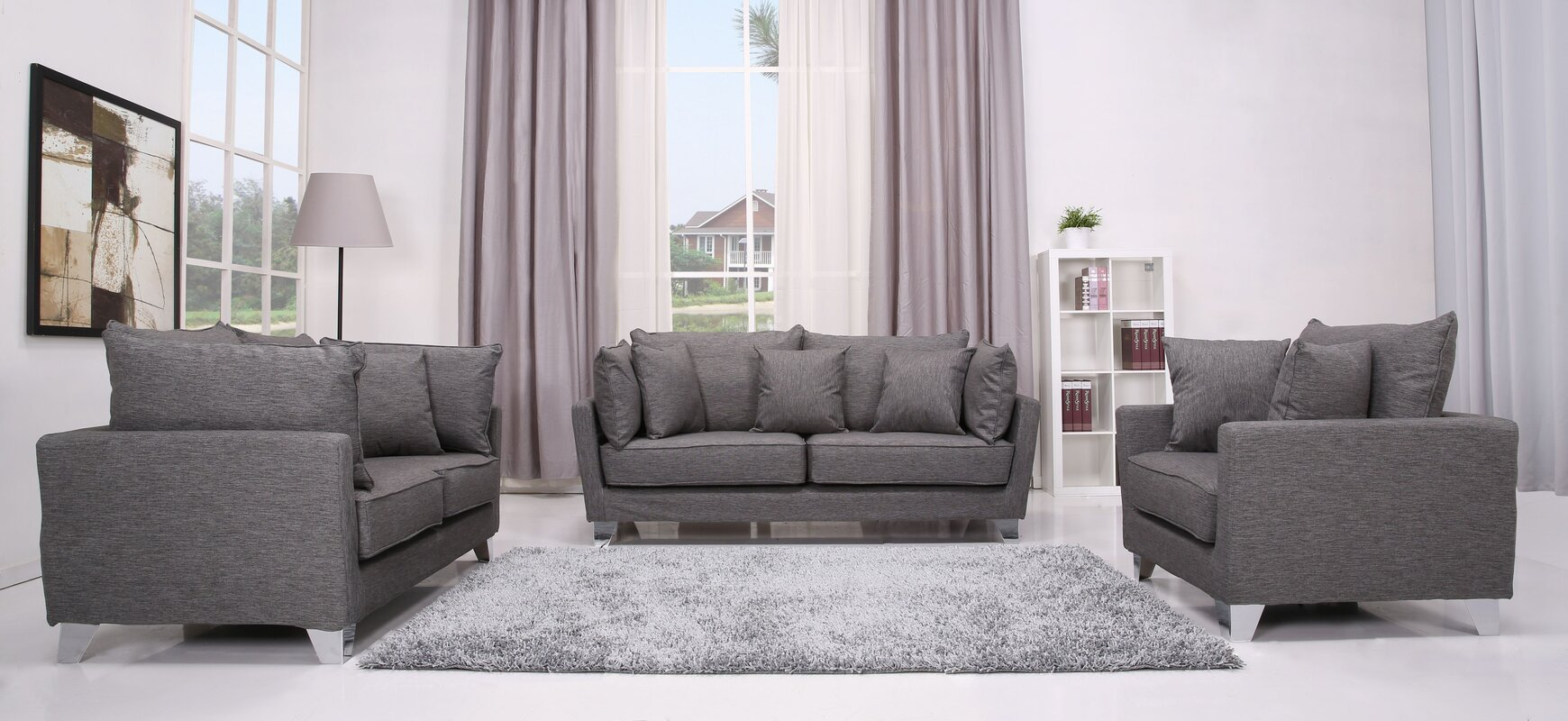 Langdon 3 Piece Sofa Set