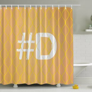 #Your Letter Print Single Shower Curtain