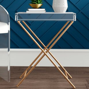 Lawncrest Acrylic and Metal Tray Table