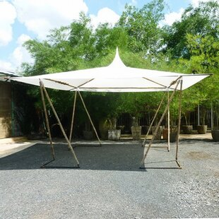 D Bamboo Party Tent Canopy by ZEW Inc