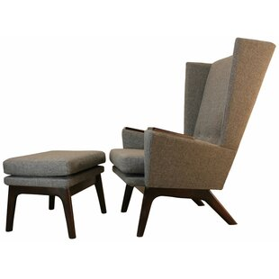 Guilford Wingback Chair and Ottoman by Brayden Studio