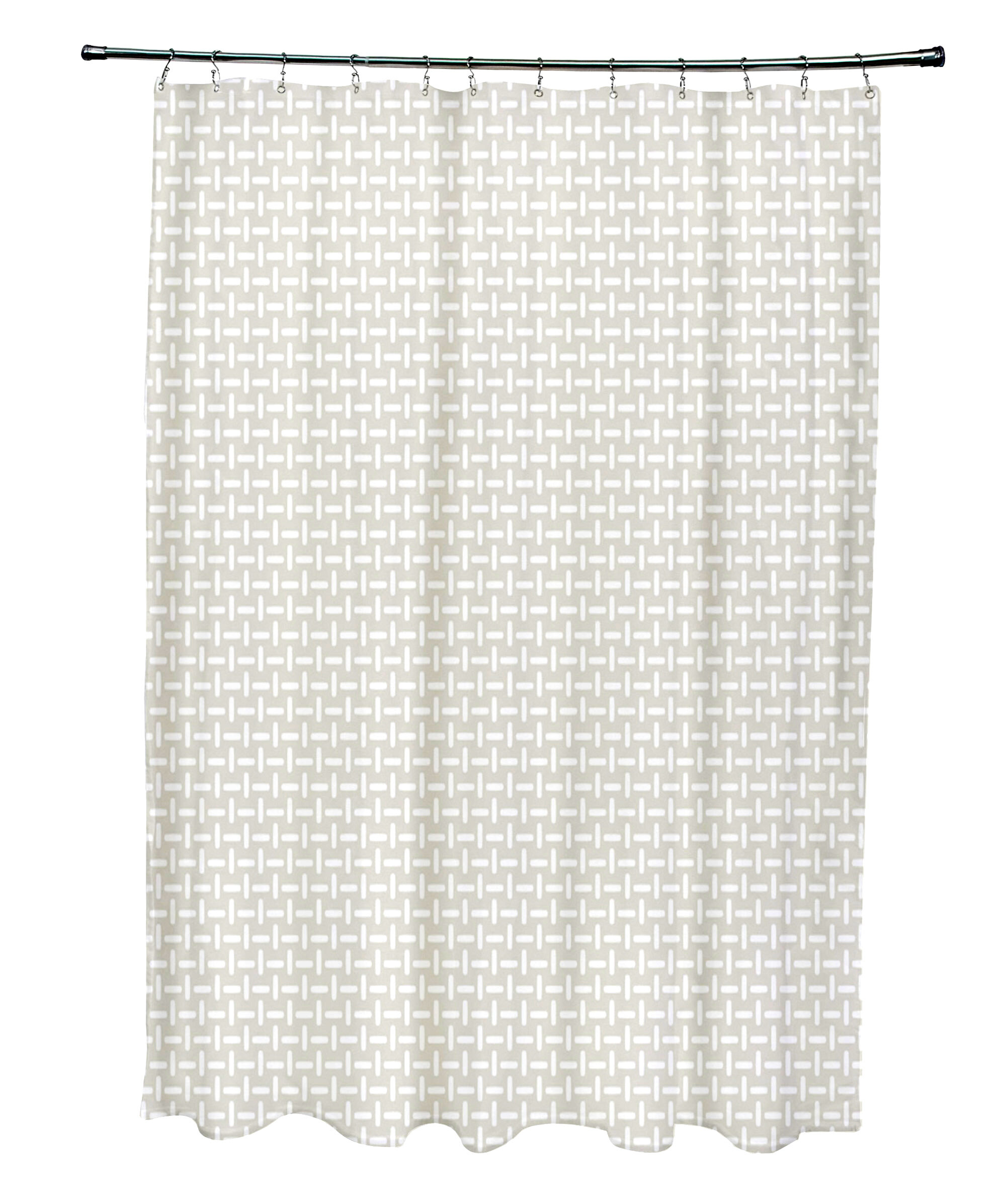E By Design Geometric Shower Curtain