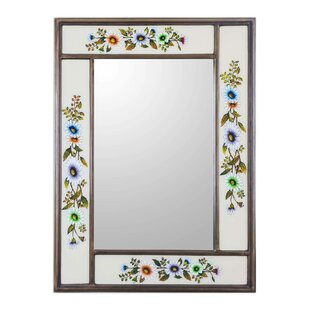 Novica Revers Painted Modern Daisy Wall Mirror