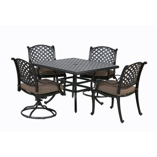 Darby Home Co Kempf 5 Piece Dining Set with Cushions