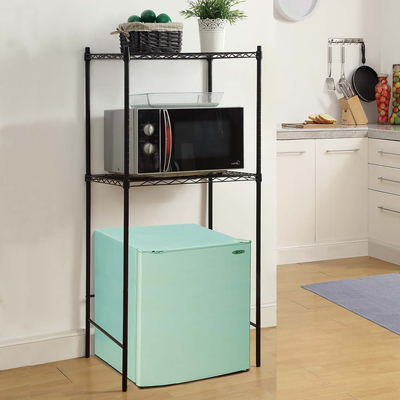 Gentil Microwave And Mini Fridge Storage Rack