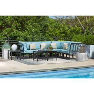 Rosecliff Heights Cormier 9 Piece Modular Sectional Seating Group with Cushions