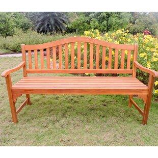 Breakwater Bay Enright Wooden Garden Bench