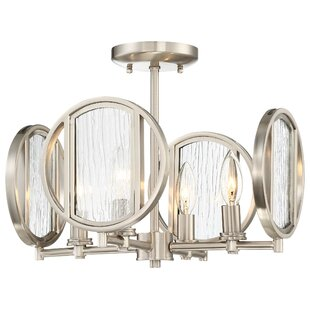Orren Ellis Cayeman 4-Light Semi Flush Mount