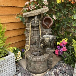 Rustic Jug Resin Water Feature With Light By Sol 72 Outdoor