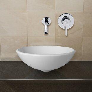 Purchase Phoenix Glass Circular Vessel Bathroom Sink with Faucet By VIGO