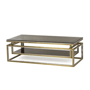 Boyd Drop Shelf Smoked Coffee Table