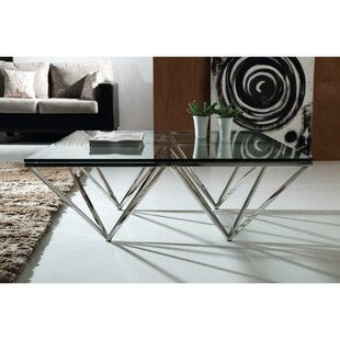 Clukey Metal and Glass Coffee Table