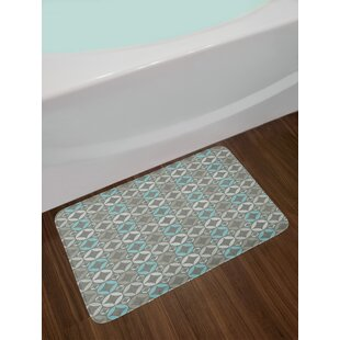 Grey and Blue Bath Rug