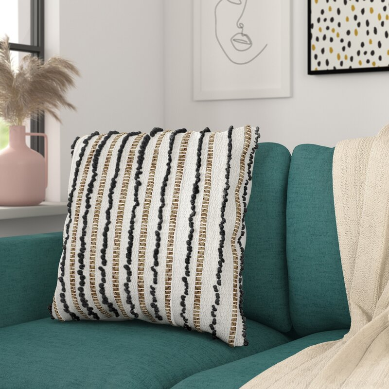 Valeriane Striped Square Pillow Cover And Insert Reviews Allmodern