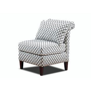 Carolina Accents Velvet Fabric Slipper Chair