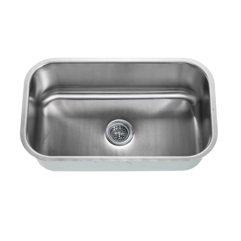 Soleil 16 gauge stainless steel 30 x 18 undermount kitchen sink 16 gauge stainless steel 30 x 18 undermount kitchen sink with gooseneck faucet workwithnaturefo