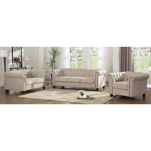 Howington 3 Piece Living Room Set by Alcott Hill