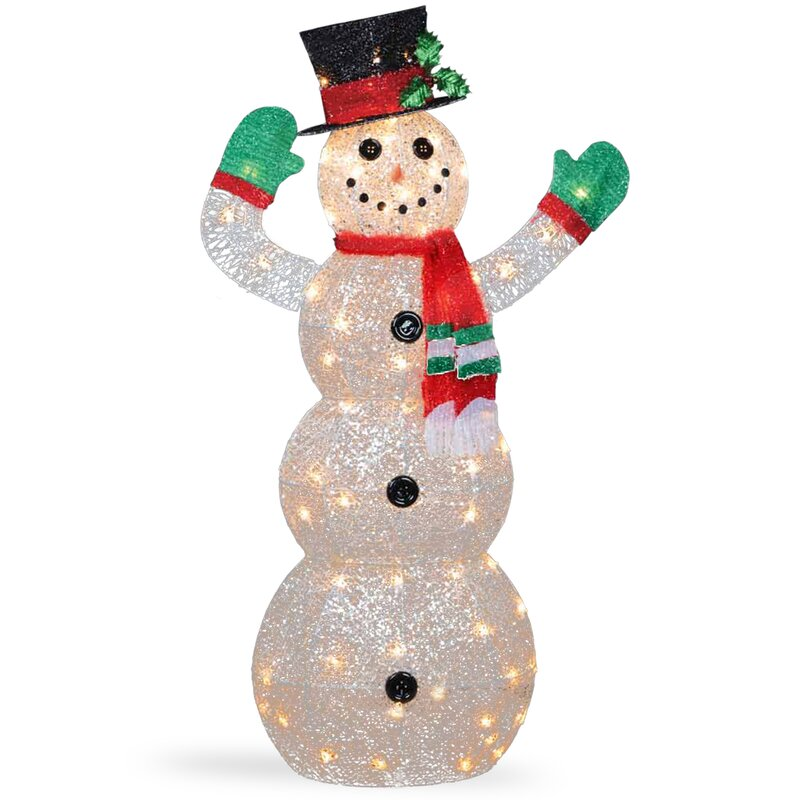 The Holiday Aisle Crystal Snowman Christmas Indooroutdoor