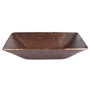 Premier Copper Products Old World Miners Pan Metal Rectangular Vessel Bath..