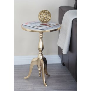 Cole & Grey Aluminum/Marble End Table