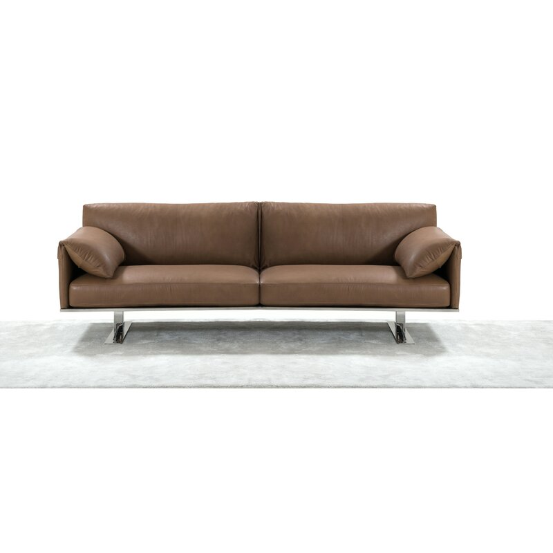 Orren Ellis Fuente Italian Leather Sofa