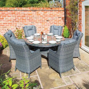 Burleigh 6 Seater Dining Set With Cushions (Set Of 7) By Sol 72 Outdoor