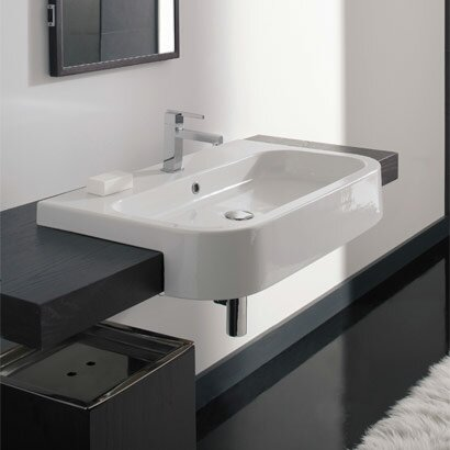Next Ceramic Rectangular Vessel Bathroom Sink