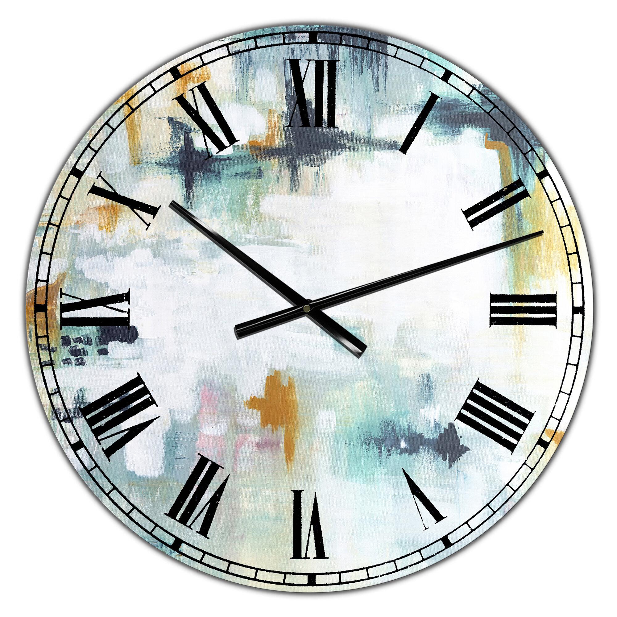 East Urban Home Composition Wall Clock Reviews Wayfair Ca