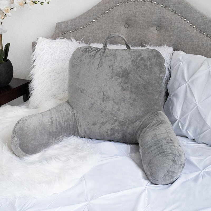 Latitude Run Saulsbury Plush Bed Backrest Pillow Reviews Wayfair