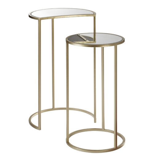 2-tlg. Satztisch-Set Lizeth Canora Grey   Wohnzimmer > Tische > Satztische & Sets   Canora Grey